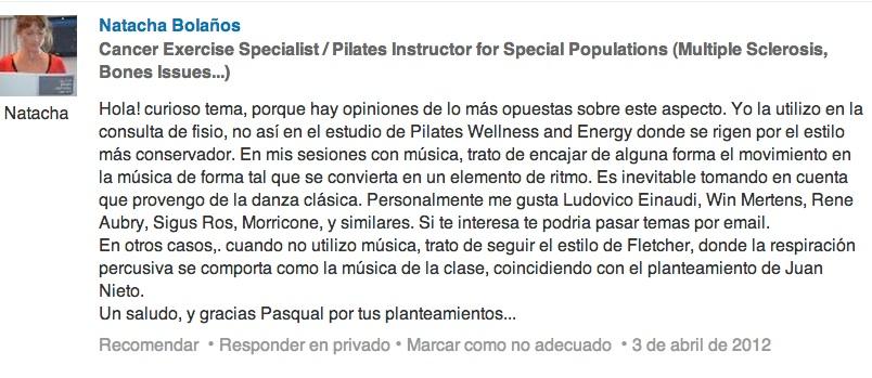Musica en Pilates y el sonido de la respiracion