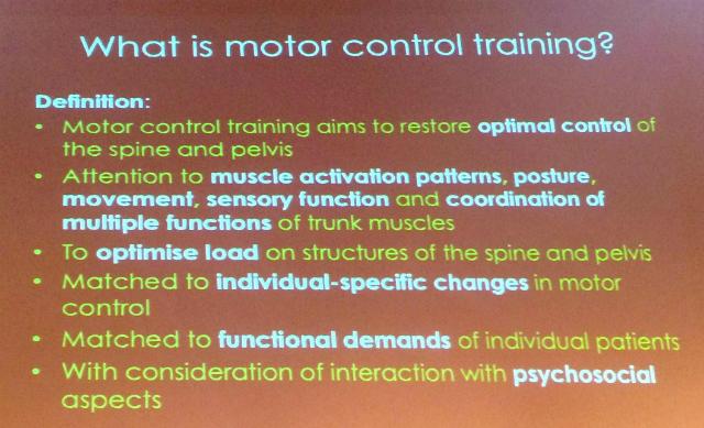Qué es el entrenamiento del control motor