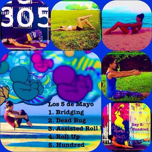 #30DayPilatesChallenge ejercicios propuestos para los primeros 5 días de mayo