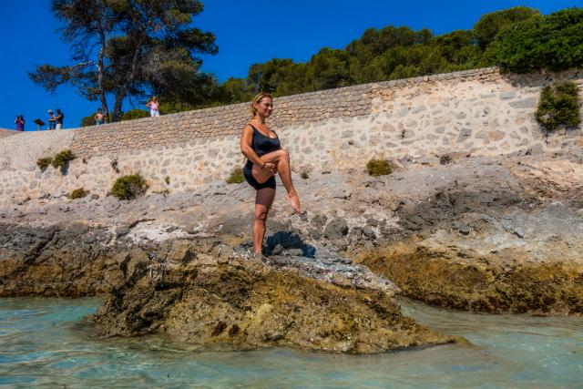 Ejercicio de Pilates Single Leg Balance, posición 3