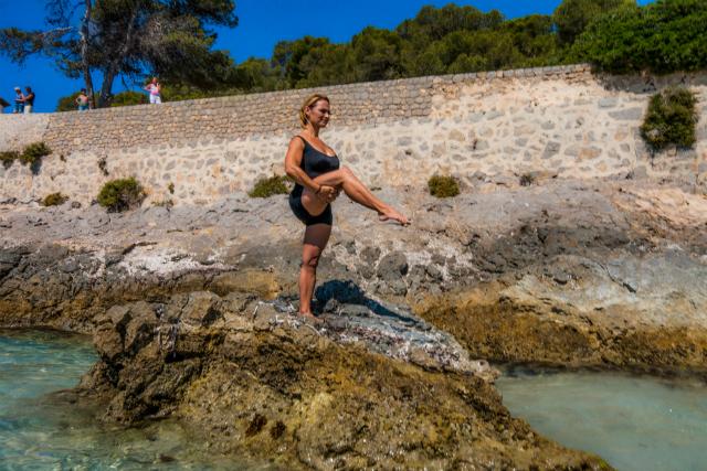 Ejercicio de Pilates Single Leg Balance, posición 4
