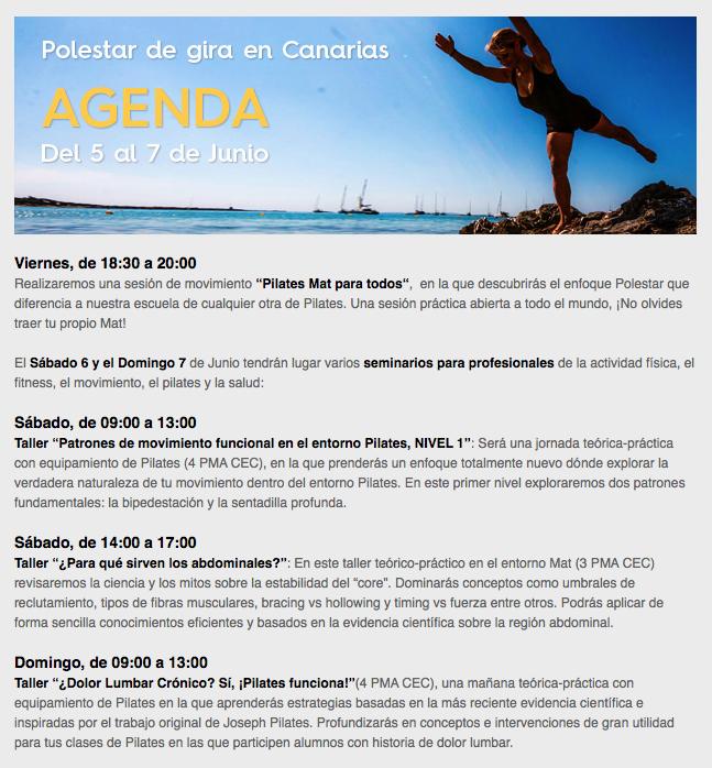 Agenda de Polestar de Gira en Canarias