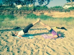 Aline Ortega en duo pilatero para #PilatesAndFriends