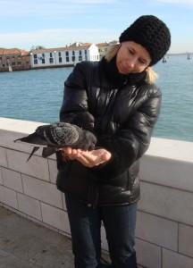 Katri Bergmann en Venecia