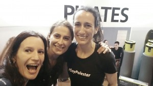 Parte del equipo de Polestar Pilates en la feria del Fitness Gymfactory en Madrid
