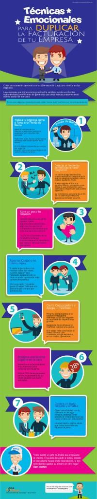 Infografía: Técnicas emocionales para duplicar tu facturación